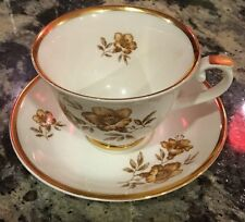 Arabia Of Finland MYRNA Cup & Saucer Gold Flowers Gilded Teacup