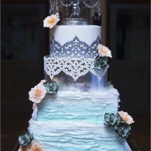 2 X Ready Made Edible Savanna  Cake Lace     **ALL COLOURS ONE LOW PRICE**