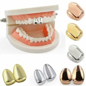 Gold Plated Single Double Cap Tooth Cap Hip Hop Teeth Grill Jewellery Grills
