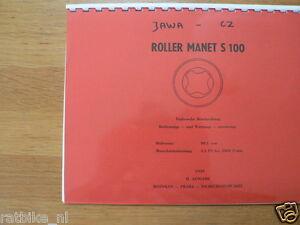 J0021 JAWA-CZ--TECHNISCHE BESCHREIBUNG---ROLLER MANET S100   98CC-MODEL