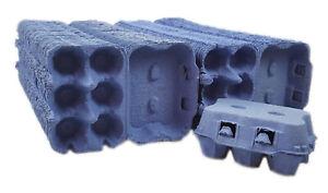 115 Stück Ingbertson® blau Eierkartons für 6 Eier Eierpappen Eierhöcker