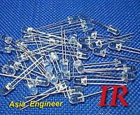 Lot of 200 X 5mm IR infrared LED 850nm Free Resistors