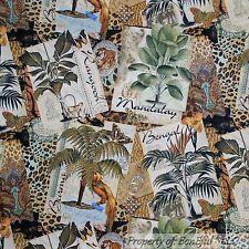 BonEful FABRIC Cotton Quilt Butterfly Animal Skin Flower Leopard Jungle US SCRAP