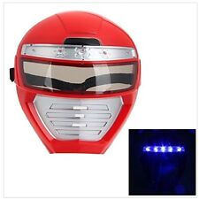 US Red Cool Cosplay Costume Pretend Play LED Kids Mask Light Up Power Ranger Kid