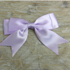 "4"" Satin Large Double Bows Ribbon Bows With Tails  -approx 3-4"" wide Beautiful"