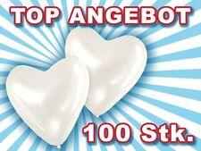 Lot de 100 ballon de baudruche en forme de coeur blanc blanche décoration fête