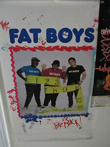 THE FAT BOYS POSTER  24 x 36 original funky poster Co. Hip Hop Rap Old Skool