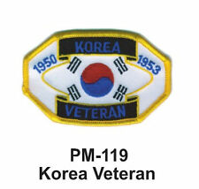 """3"""" KOREA VETERAN Embroidered Military Patch"""