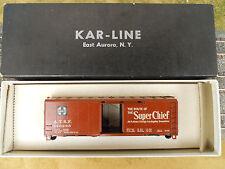 HO SCALE KAR-LINE SANTA FE 146285 SUPER CHIEF 40' BOX CAR KIT NOS