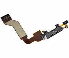 iPhone 4S 4GS Lower Charger Charging Dock Port Connector Flex Cable Black OEM