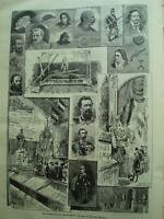 TORINO-L'ESPOSIZIONE ITALIANA DEL 1884-TREVES ED.-57 FASCICOLI ILLUSTRATISSIMI..
