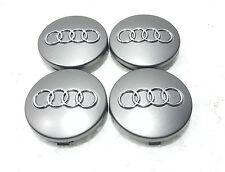 4 x Audi Centro Tapas 60mm Aleación Rueda Centro insignias RS4 S3 S4 A3 A4 A6 A8 TT