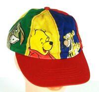 Vintage 1970s Winnie the Pooh Tigger Piglet Eeyore Hat Cap Adjust Snap Multi