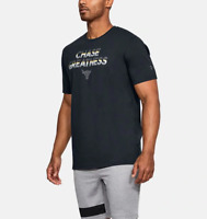 Under Armour Mens UA Project Rock Chase Greatness Graphic T-Shirt 1321413 Black
