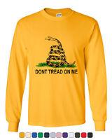 Don't Tread On Me Long Sleeve T-Shirt Gadsden Flag Rattle Snake
