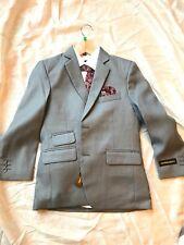 Kids World of USA: Kids Grey, White & Burgundy 6-piece Suit, standard - Size 12