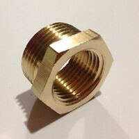 "LOT 2 Brass Reducer 1/2"" BSPP Male to M16x1.5mm Female Reducing Bush Fitting"