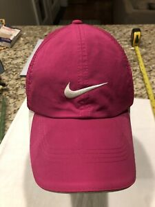 Nike Dri-Fit Pink Cap Adult Adjustable Hat with Brim Stains