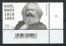 Bund/BRD 3384 Ecke 4 (70) -Karl Marx- ** Postfrisch 2018