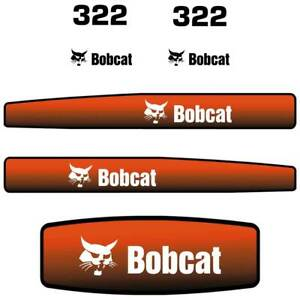 Bobcat 322 Decals Stickers, Repro Aftermarket Decal kit