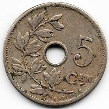 Pièce de 5 Cen koninkrijk Belgie (Royaume de Belgique) 1905