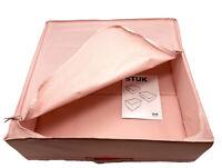 "IKEA STUK Cloth Storage Box Pink 21 3/4"" X 20"" X 7"" organizer *NEW*"