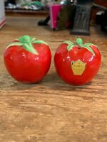 VINTAGE Tomato SALT AND PEPPER SHAKER SET The Pantry Parade