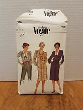 VintageVery Easy Vogue Pattern #7858  Size 22 1/2  Dress & Top UNCUT