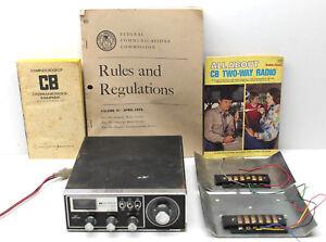 Midland Intl Citizens Band CB Radio Model #13-882B Auto Marine 23 Ch+Info Books
