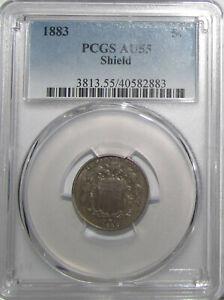 1883 Shield Nickel PCGS AU55