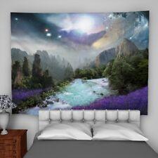 Fantasy Mountain Tapestry Wall Hanging Mandala Bedspread Indian Home Decor
