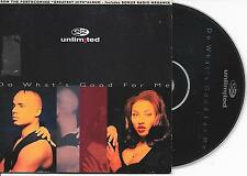 2 UNLIMITED - Do what's good for me CD SINGLE 2TR CARDSLEEVE Eurodance 1995