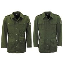 ARMY JACKET MEN GREEN FIELD COAT MILITARY OLIVE