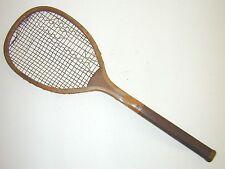 C & Cross Transitional Flat Top Antique Tennis Racquet 1890's Rare Wood Butt Cap