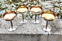 Vintage Goblets - Grapevine Stems - Silverplate/Copper Made in Spain - Set of 4