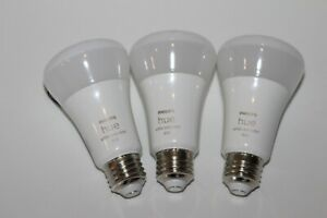 Philips Hue 562785 White & Color Ambiance A19 LED Smart Bulb 3-Pack USED