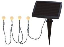 LED solar Lichterkette Warmweiß 20 weiße Kugeln Ip44 Wintersolarpanel