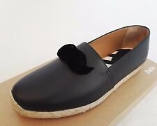CHRISTIAN LOUBOUTIN ESPOIL BLACK 44 11 LEATHER FLAT ESPADRILLES MENS SHOES RARE