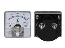 0- 40V DC Voltage Panel Meter Analog, with Internal Current Shunt.