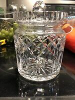 """WATERFORD LISMORE  CUT CRYSTAL BISCUIT COOKIE CANDY JAR WITH LID 7"""" high"""