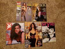 CINDY CRAWFORD 5 International Covers German Stern UK Bazaar Style RARE LOT #3