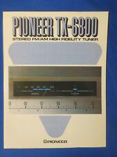 Pioneer TX-6800 Tuner Sales Brochure Factory Original The Real Thing
