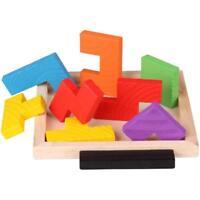 Kids Child Tangram Jigsaw Board Puzzle Brain Teaser Tetris Educational Toys LO