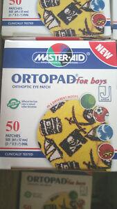 Ortopad Fun Pack Orthoptic Eye Patch Junior Boys Size Box 50 - Latex Free