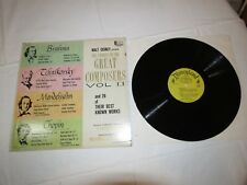 Walt Disney Presents The Stories of the Great Composers Vol II LP Album Record