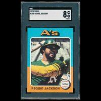 1975 Topps REGGIE JACKSON #300 SGC 8 NM-MT HOF Oakland Athletics Yankees