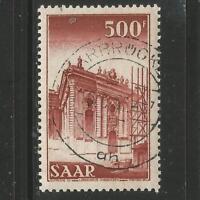 Saarland, Wiederaufbau der Ludwigskirche, Nr. 337 gestempelt