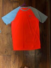 New Under Armour Heatgear Orange & Gray T-Shirt in Mens Size Small