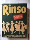 vintage rinso laundry detergent with soap (unopened)