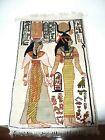 Vintage Handwoven Silk Rug Wall Hanging Egyptian Carpet Tapestry Nefertiti Isis